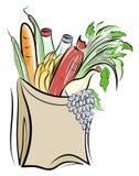 torby jedzeń papier ilustracja wektor