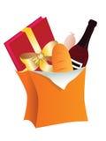 torby jedzenia papier Zdjęcie Stock
