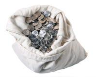 torby kanwy pieniądze Zdjęcie Royalty Free