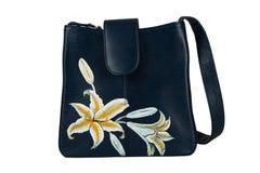 torby kwieciste ręki wzoru kobiety Obraz Stock