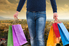 torby mężczyzna zakupy Obrazy Stock