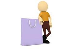 torby mężczyzna zakupy Fotografia Stock