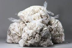 torby miący pełni śmieciarscy papiery Obraz Stock