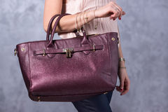 Torby mody trendy Zamyka up wspaniała elegancka torba Fashionab Zdjęcia Royalty Free