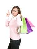 torby na zakupy kobiety Obrazy Stock