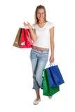 torby na zakupy kobiety Zdjęcia Royalty Free