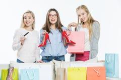torby na zakupy kobiety Obrazy Royalty Free