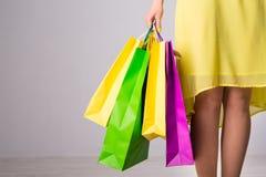 torby na zakupy kobiety Fotografia Stock