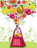 torby owocowy zakupy pluśnięcie Fotografia Stock