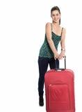 torby piękna dziewczyny podróż Obraz Stock