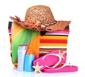 torby plaża Zdjęcia Stock
