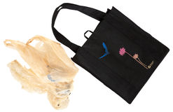 torby reusable rozporządzalny Zdjęcie Stock