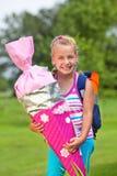 torby szyszkowa dziewczyny trochę szkoła Zdjęcie Stock