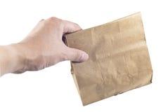 torby target1460_1_ odizolowywającego papier zdjęcia stock