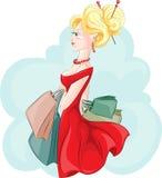 torby target356_1_ kobiet potomstwa Obrazy Stock
