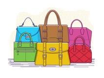 torby ustawiać Zdjęcie Stock