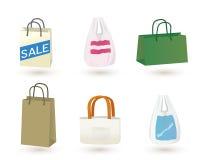 torby ustawiający zakupy ilustracja wektor