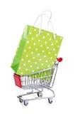 Torby wózek na zakupy i Fotografia Royalty Free