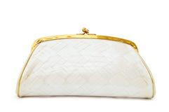 torby wieczór matki perły rocznika biel Obraz Stock