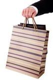 torby wyszczególniają robić ręki mężczyzna zakupy Obrazy Stock