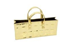 torby złoto odizolowywał jeden Zdjęcia Royalty Free