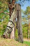 torby zbliżać przędzalnianego drzewa dwa Zdjęcia Stock