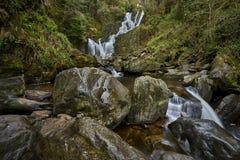 Torc siklawa w Killarney parku narodowym, Irlandia Zdjęcie Royalty Free