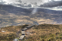 Torc walkway. A path on the way up Torc mountain,Killarney,county Kerry,Ireland Royalty Free Stock Image