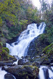 Torc Waterfall. Fast flowing mountain stream and waterfall in Killarney National Park, Co.Kerry, Ireland Royalty Free Stock Photography