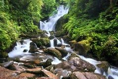 Torc Waterfall. Waterfall in Killarney National Park, County Kerry, Ireland, long exposure Stock Image