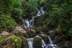 Torc waterfall. Is approximately 7 kilometers from Killarney Town and approx 2.5 kilometers from the motor entrance to Muckross House and can be accessed from a Stock Photography