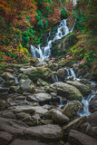 Torc waterfall at autumn. Beautiful Torc waterfall photographed in autumn in Killarney National Park, Ireland Royalty Free Stock Images