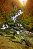 Torc waterfall at autumn. In Killarney National Park, Ireland Stock Photo