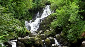 Torc waterfall in county Kerry in Ireland tilt down