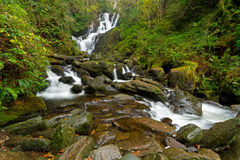 Torc waterfall in Killarney National Park Royalty Free Stock Photo