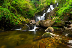 Torc waterfall in Killarney National Park. Ireland Royalty Free Stock Images