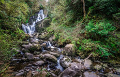 Torc waterfall in Killarney National Park Royalty Free Stock Image