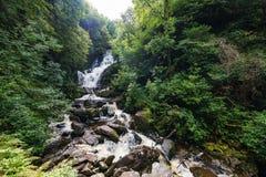Torc Waterfall in Killarney National Parkin in Ireland stock photo
