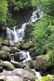 Torc waterfall. In the Ring of Kerry forest, Ireland Royalty Free Stock Photo