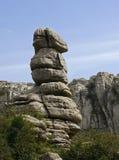 torcal étrange de roche de réserve d'EL de l'Andalousie Photographie stock libre de droits
