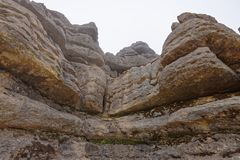 El Torcal de Antequera, rock formations. andalucia royalty free stock photography