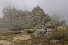 El Torcal de Antequera, rock formations. andalucia royalty free stock images