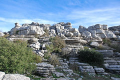 Torcal Rocks Royalty Free Stock Image