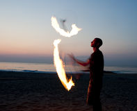 Torce di Jugglng Fotografia Stock Libera da Diritti