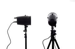 Torce elettriche dello studio Fotografia Stock Libera da Diritti