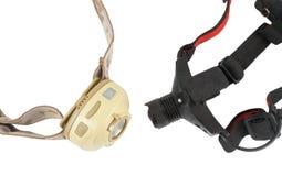 torce elettriche Testa-montate Fotografia Stock