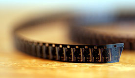 torcedura de la película de 8 milímetros Imagenes de archivo
