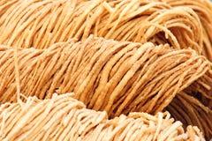 Torcedura frita de la pasta Foto de archivo libre de regalías