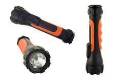 Torch or Flashlight. On a white background in few shots Stock Photo
