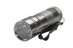 Torch. Hand torch with diode bulbs Royalty Free Stock Photos